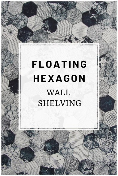 Link to a blog post about some floating hexagon wall shelves.