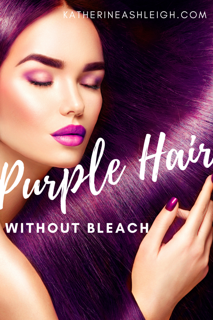 I love purple toned hair. But I am a brunette and bleaching my hair is something I am not willing to do! I found an amazing purple coloring shampoo that directly dyes your hair and keeps it healthy and shiny!